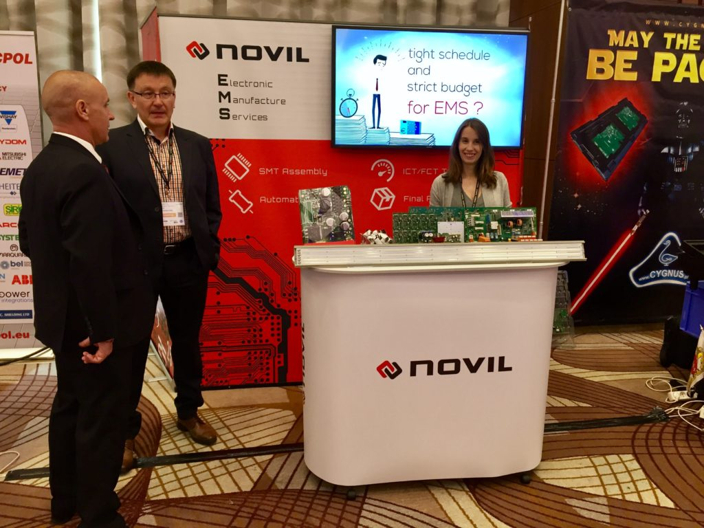 Novil booth on industry fair